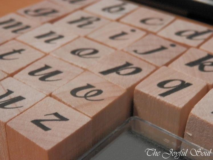 Alphabet Stamps, Close-Up