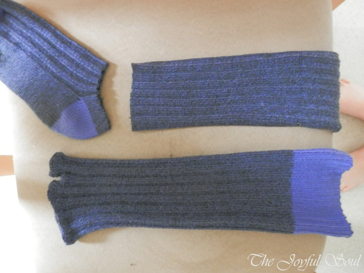 Upcycled Sock Arm-Warmers 2