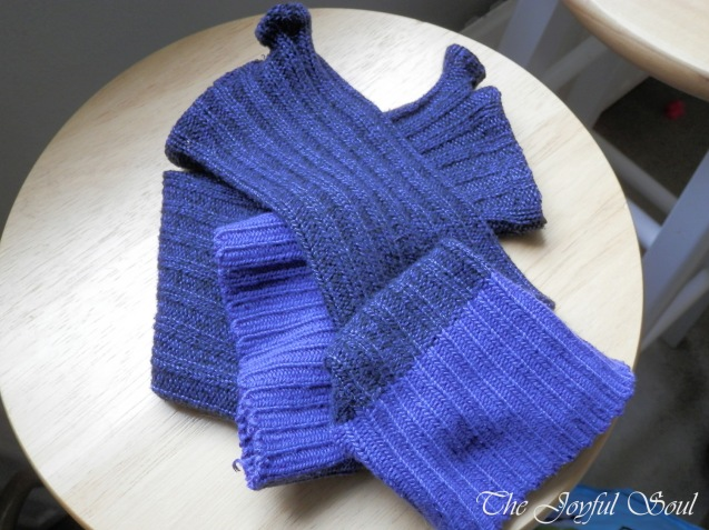 Upcycled Sock Arm-Warmers 1
