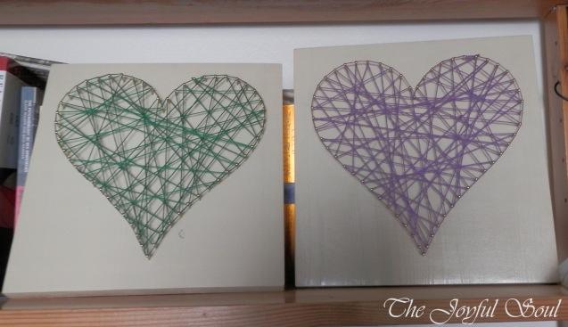 Emerald and Purple Hearts