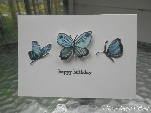 Blue Butterfly Birthday