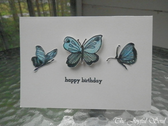 Blue Butterfly Birthday