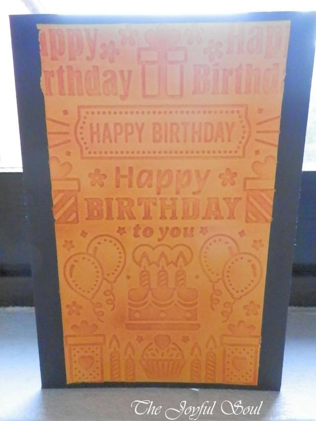 Birthday in Orange