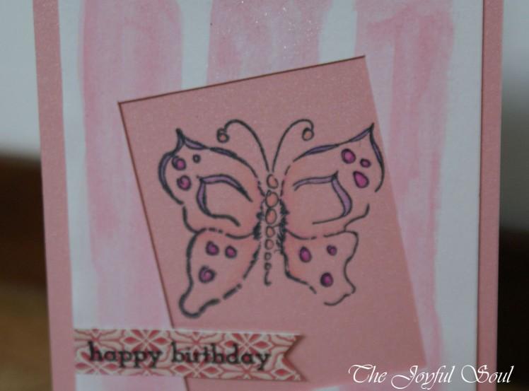 Pink Butterfly Window 2