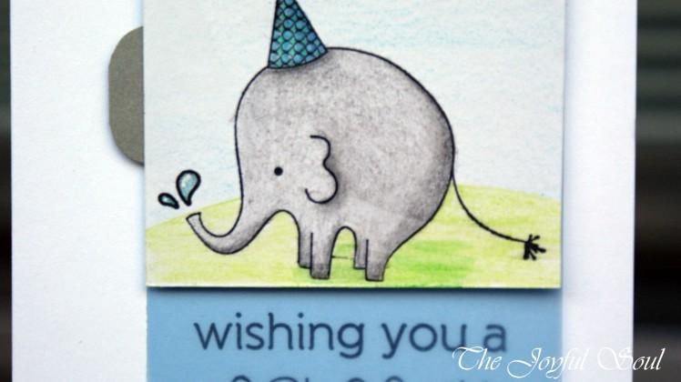 Splashy Birthday Elephant 2