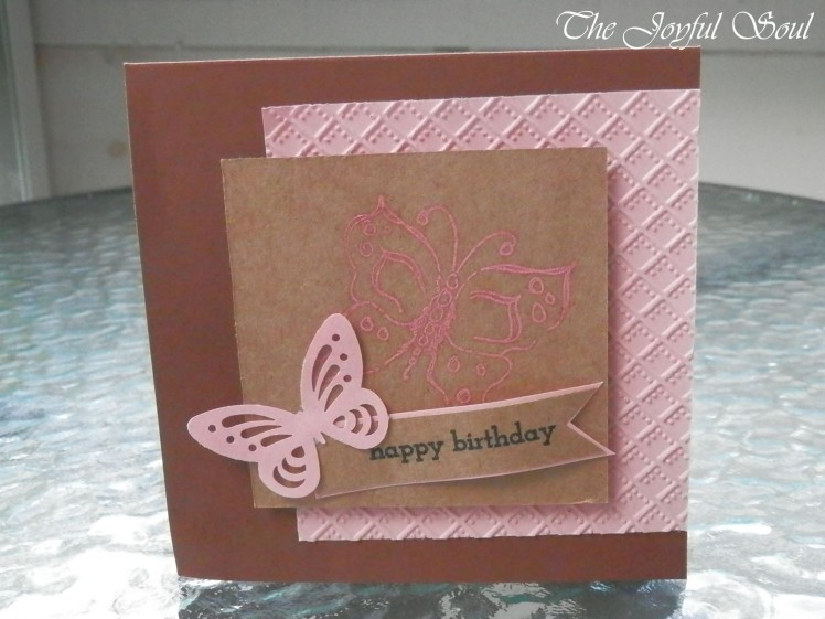 Pink Birthday Butterfly