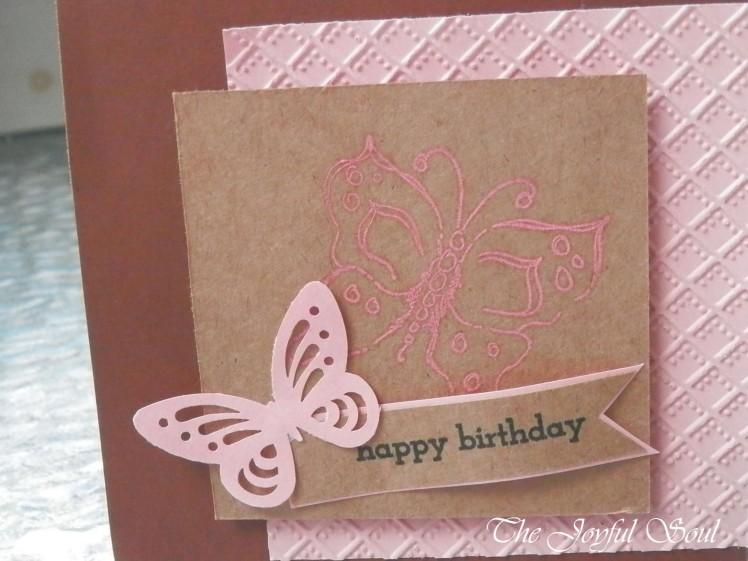Pink Birthday Butterfly 2
