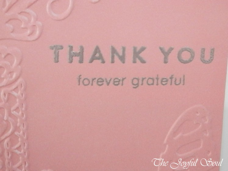 Embossed Grateful Butterfly 2