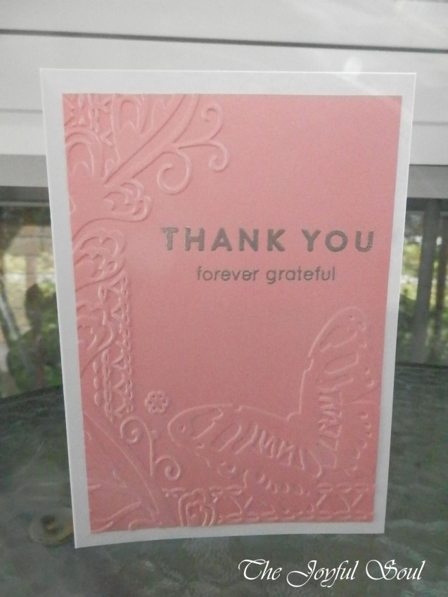 Embossed Grateful Butterfly