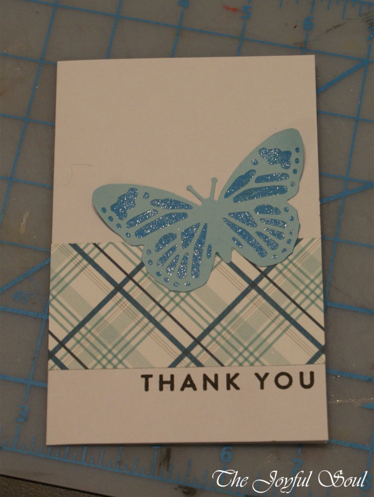 Blue Butterfly Thank You