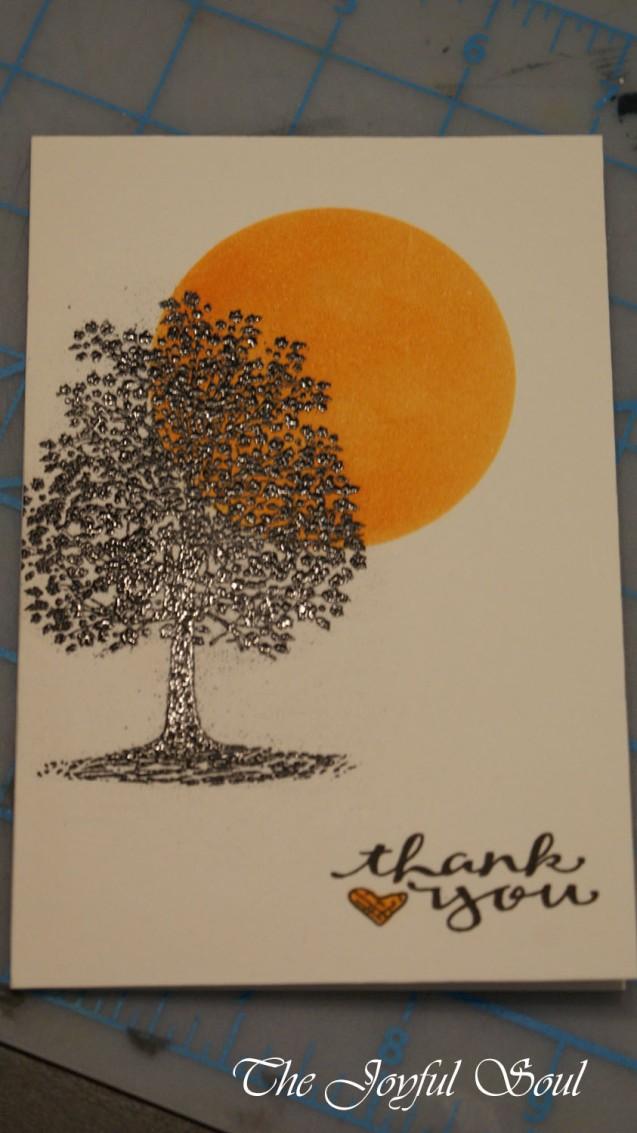Emboss Resist Tree