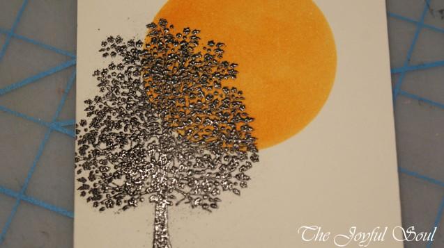 Emboss Resist Tree 2