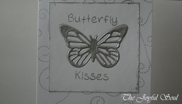 Silver Embossed Butterfly 2