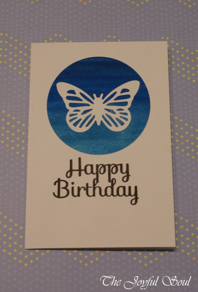 Ombre Butterfly Birthday