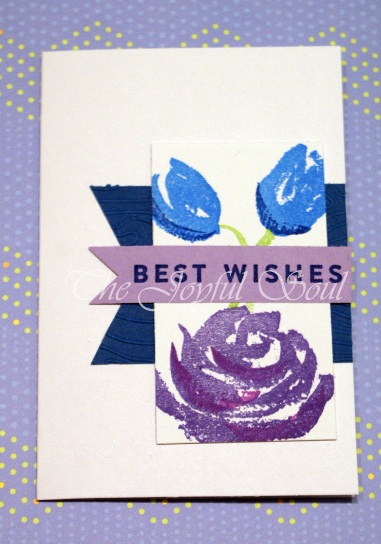 Floral Wishes in Purple and Blue