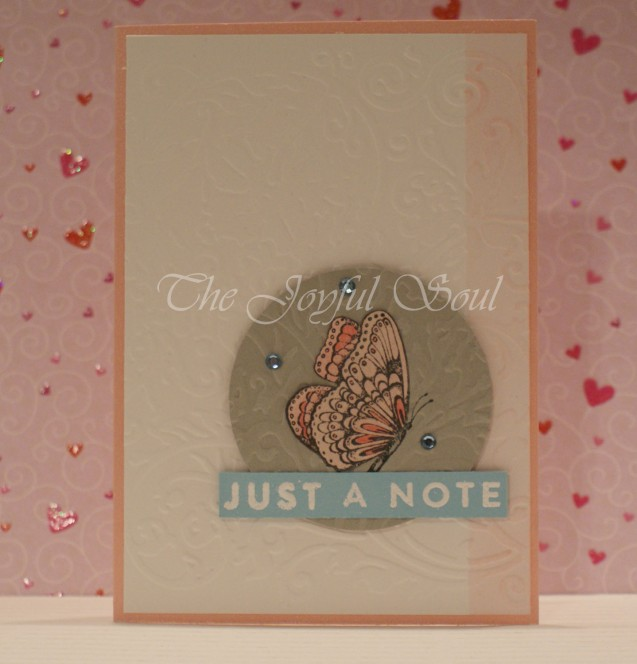 Embossed Butterfly Note