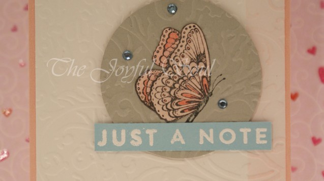 Embossed Butterfly Note 2