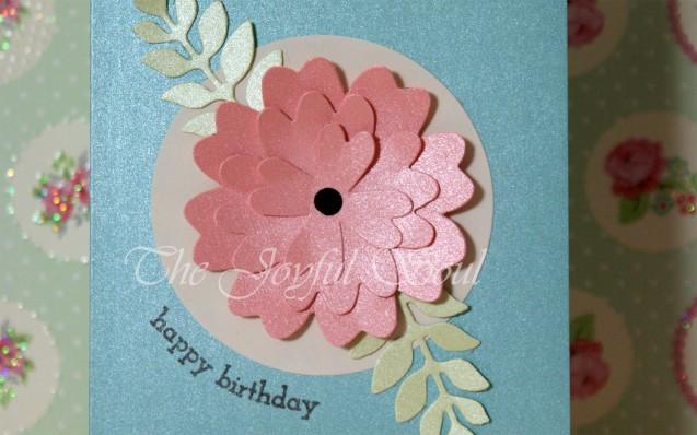 Pearlised Birthday Flower 2
