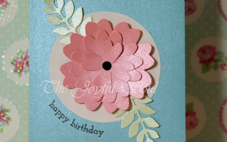 Pearlised Birthday Flower 2